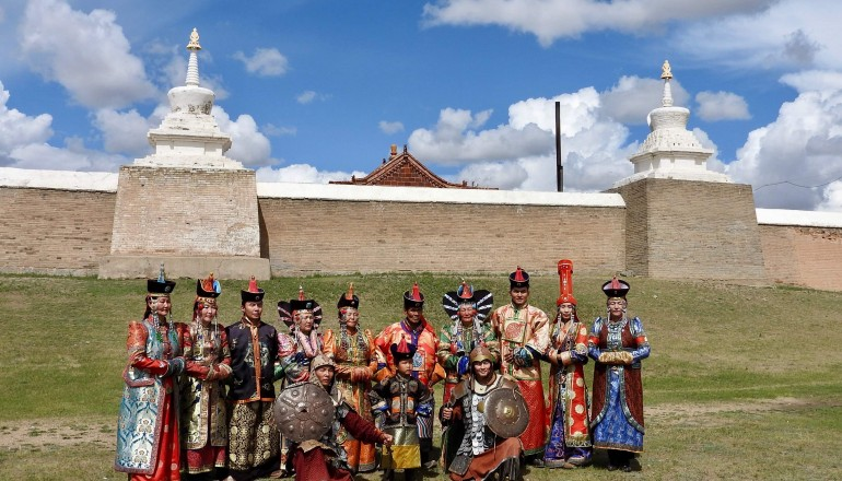 Family dressed up, Mongolia