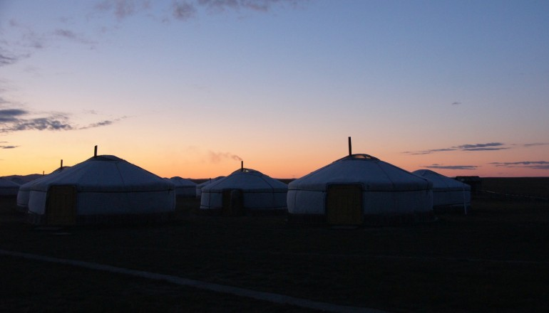 Sunrise ger camp, Mongolia