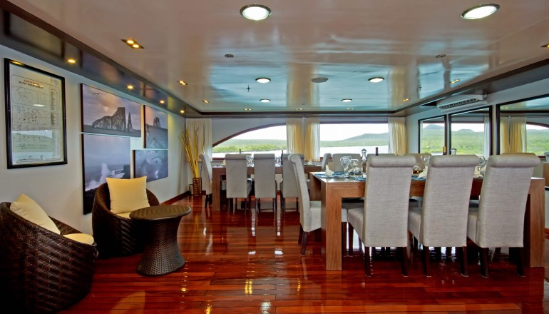 Oceanspray dining room, Galapagos Islands