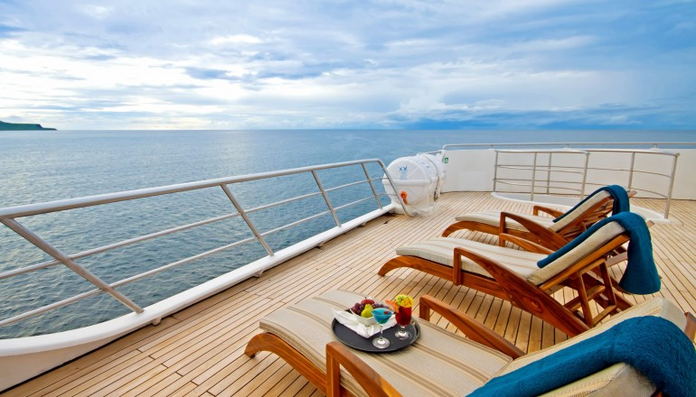Oceanspray sundeck, Galapagos Islands