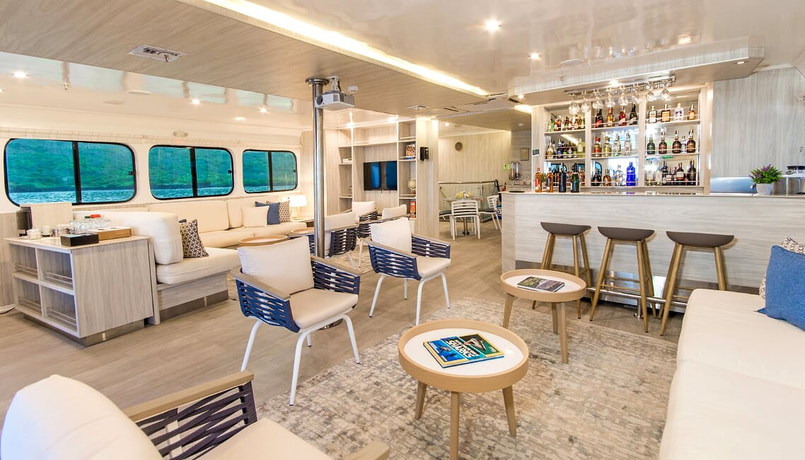 Solaris lounge, Galapagos Islands