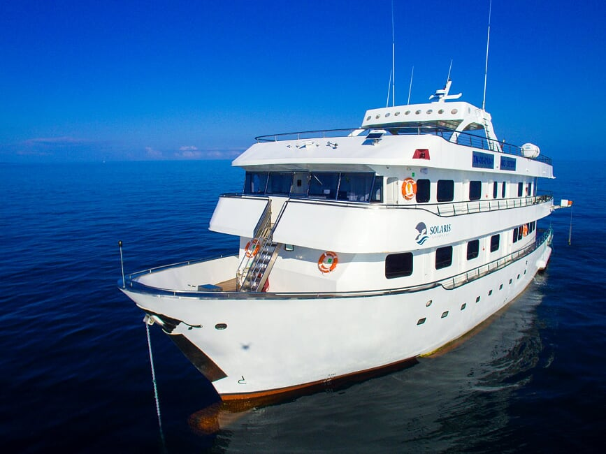 Solaris exterior view, Galapagos Islands