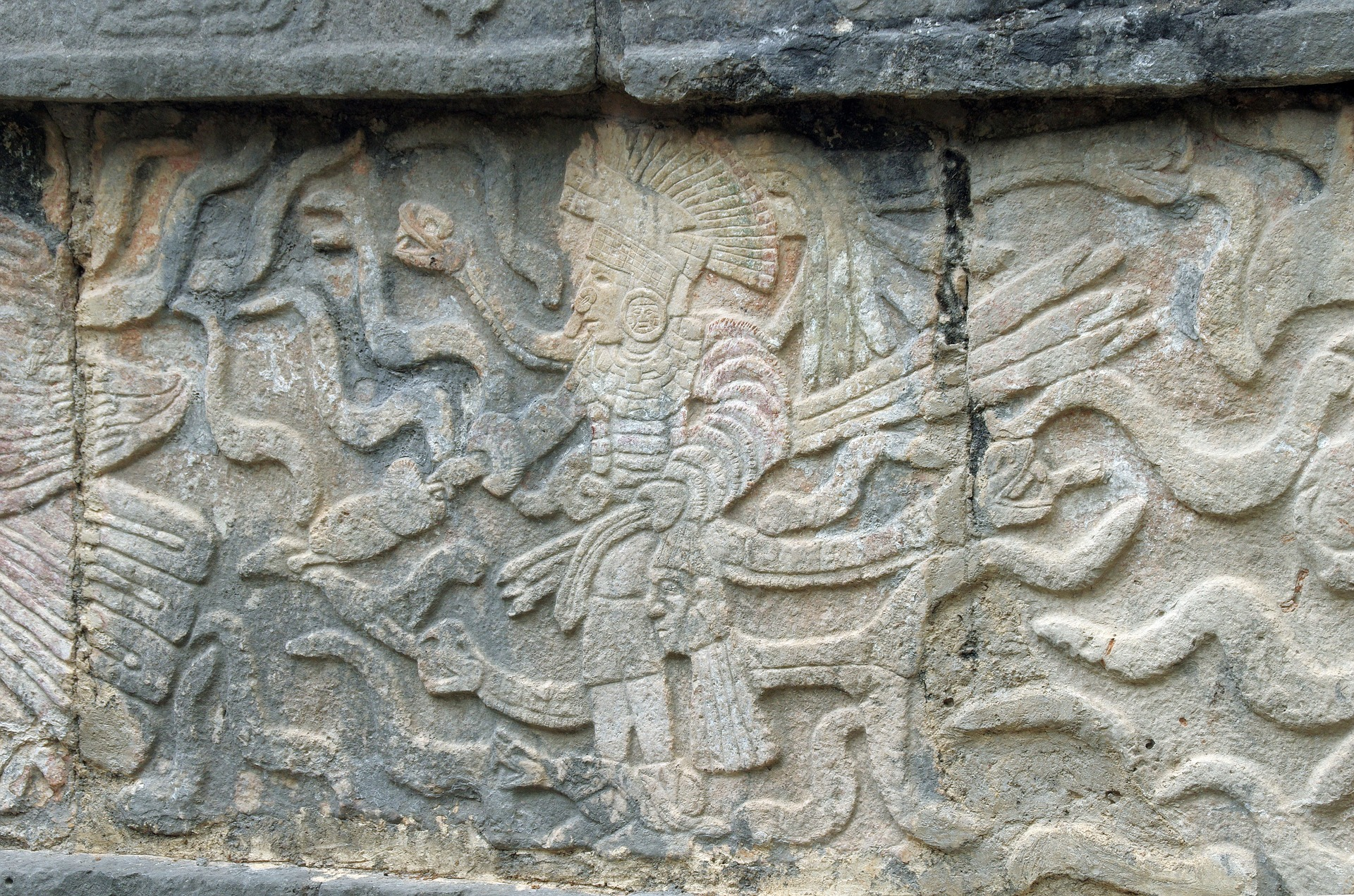 detailed stone carvings
